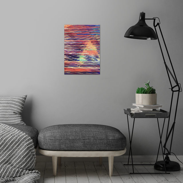 Sailing at Sunset wall art is showcased in interior