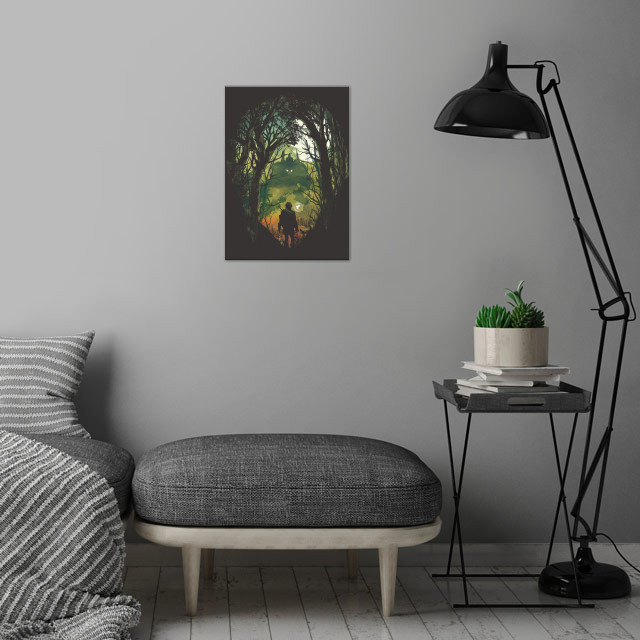 Its Dangerous to go Alone V.2 wall art is showcased in interior