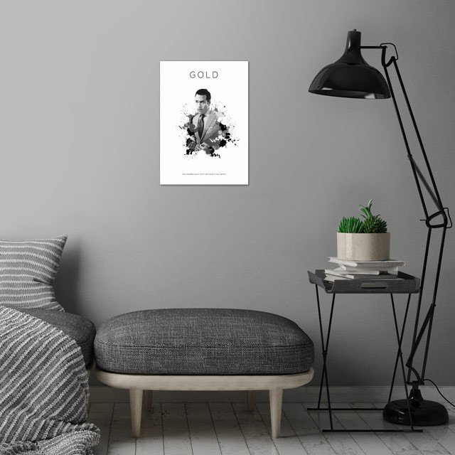 Ari Gold wall art is showcased in interior