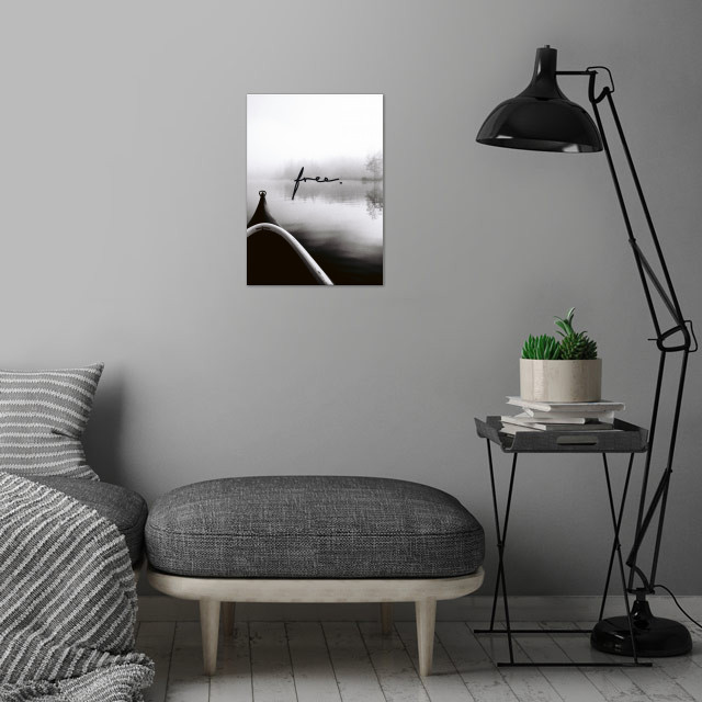FREE - An Adventure, just feel free! wall art is showcased in interior