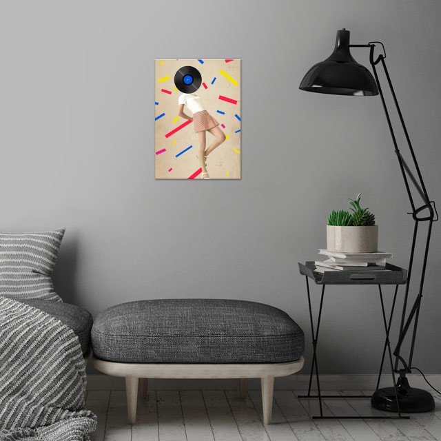 Color Chaos Collection -- The Party Never Ends wall art is showcased in interior