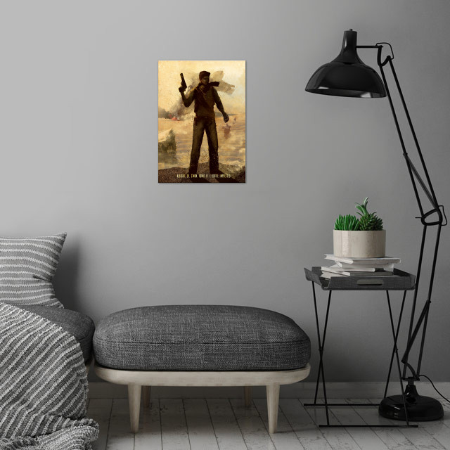 Drake wall art is showcased in interior