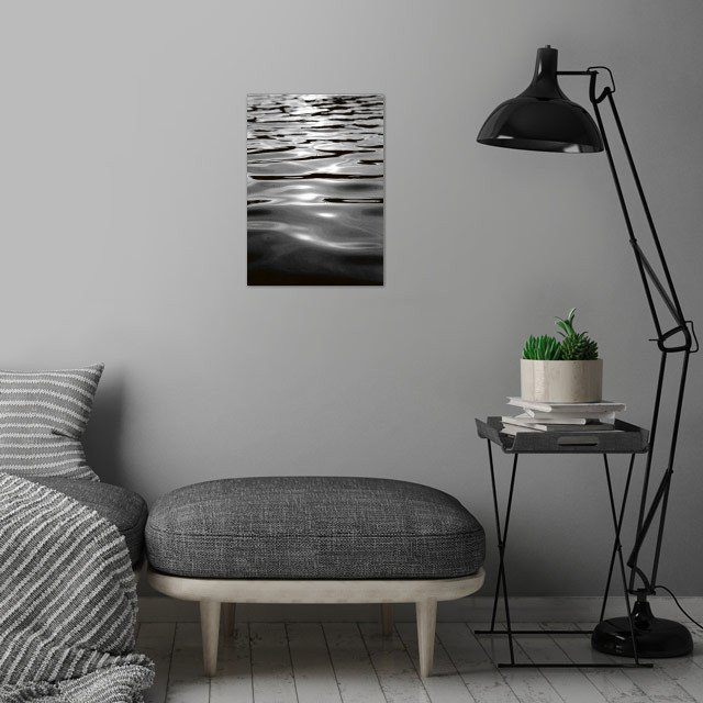 WATER ONE wall art is showcased in interior