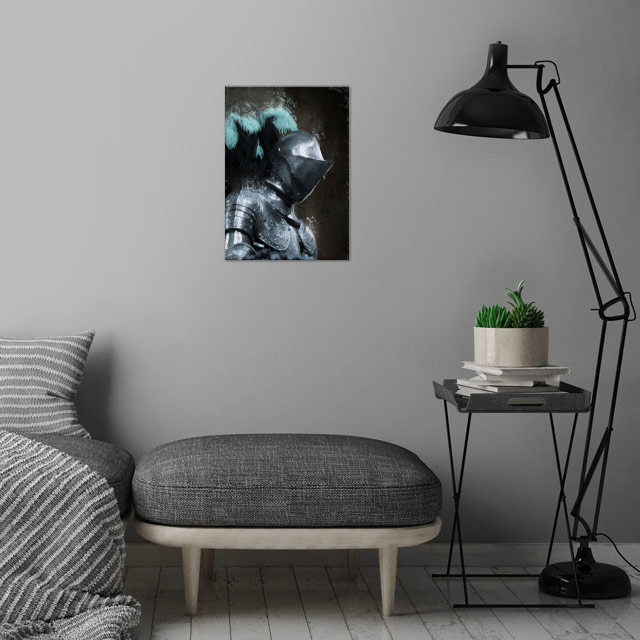 Medieval Knight wall art is showcased in interior