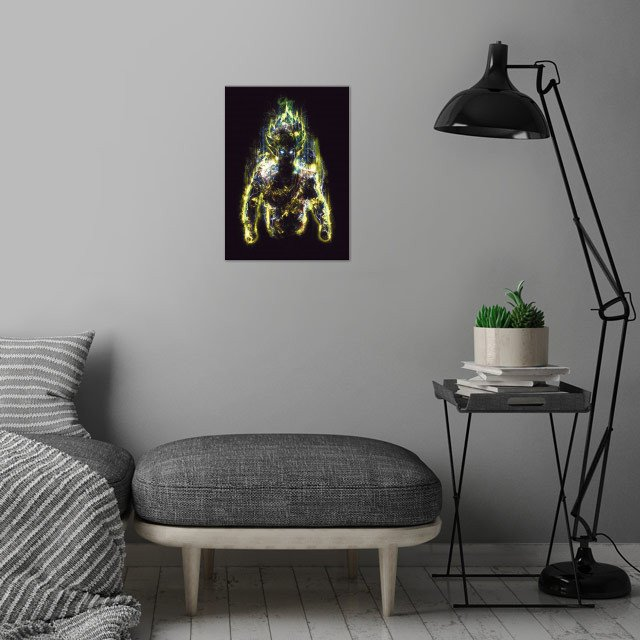 The 150 Million Power Warrior wall art is showcased in interior