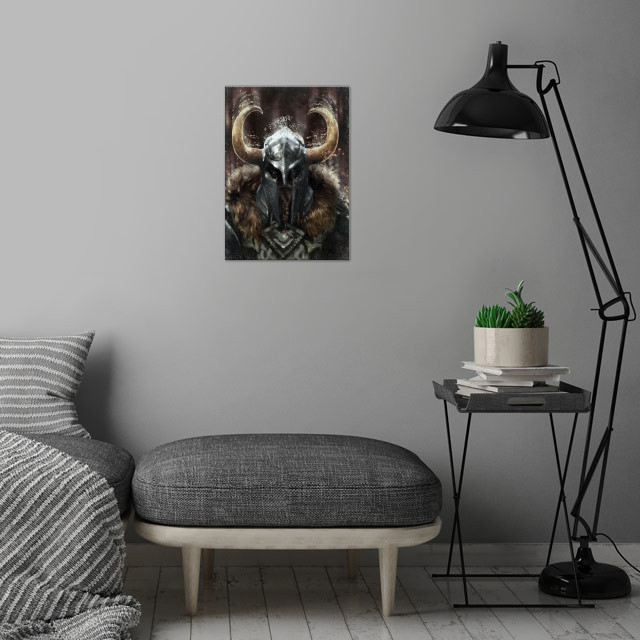 Viking Warrior wall art is showcased in interior