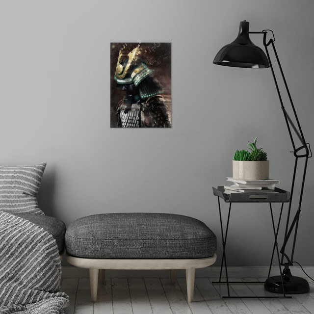 Samurai Warrior wall art is showcased in interior