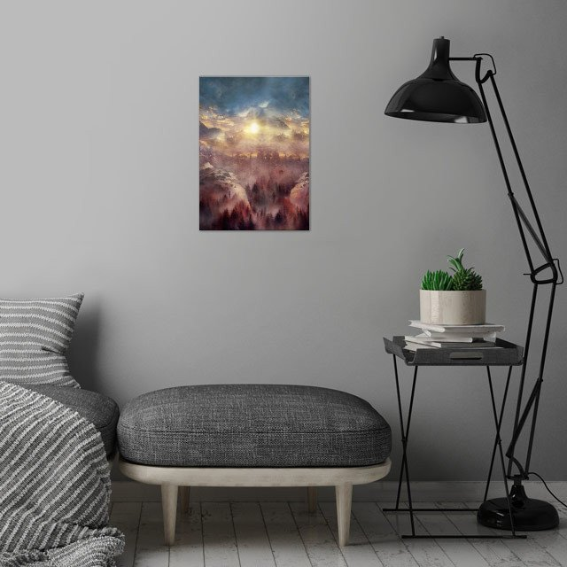 Wish You Were Here Chapter I (Color option) wall art is showcased in interior