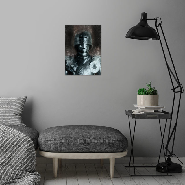 German Gothic Knight wall art is showcased in interior