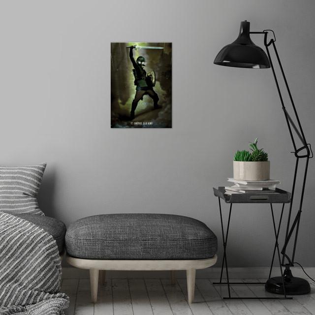 Dark Link wall art is showcased in interior