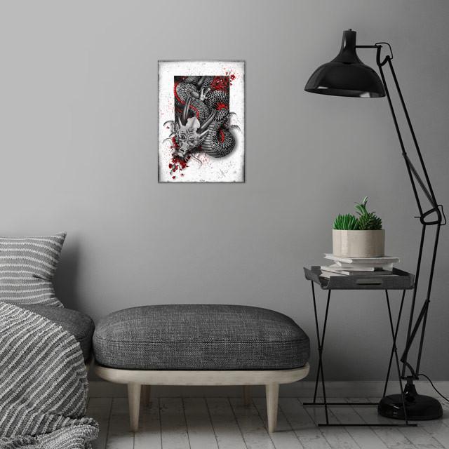 Black Dragon wall art is showcased in interior