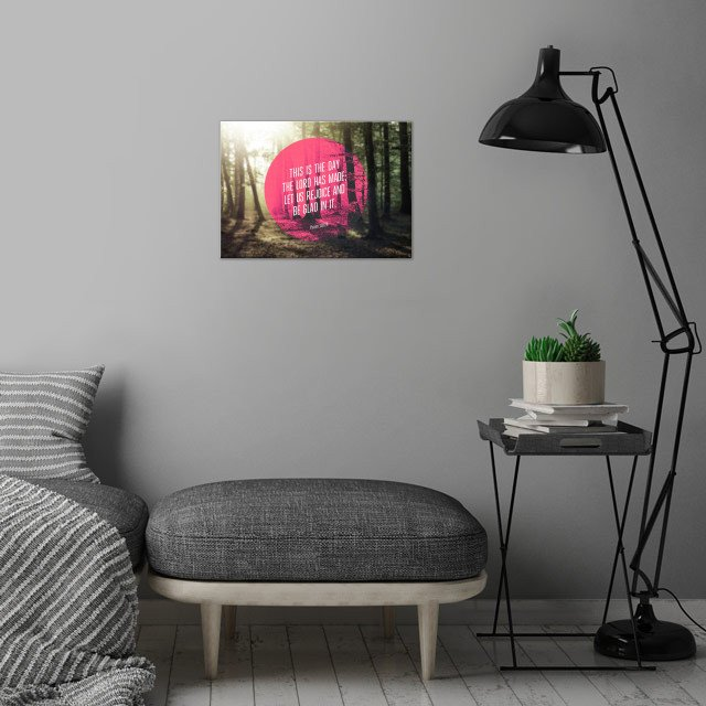 """This is the day that the Lord has made; let us rej... wall art is showcased in interior"