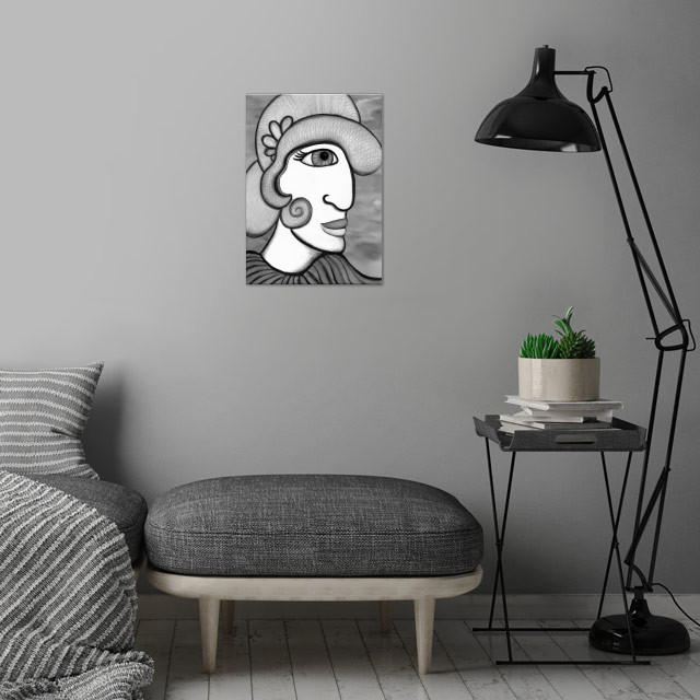 Cloche wall art is showcased in interior