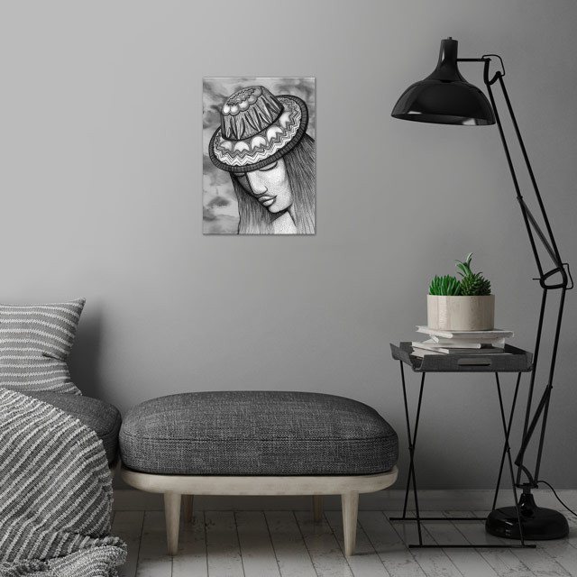 Hat of Tulips wall art is showcased in interior