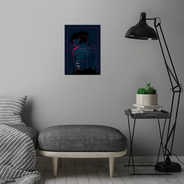 The girl with dragon tattoo - Alternative movie poster wall art is showcased in interior