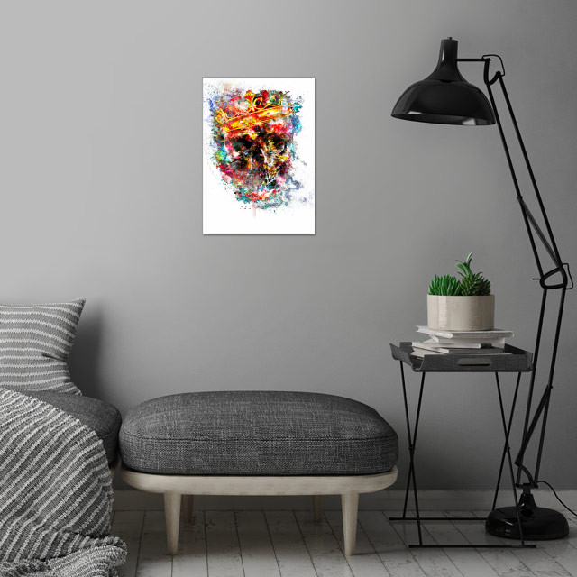 King Dusty wall art is showcased in interior