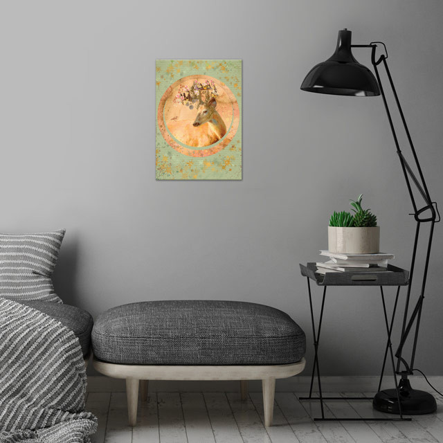Forest Spirit Collage wall art is showcased in interior