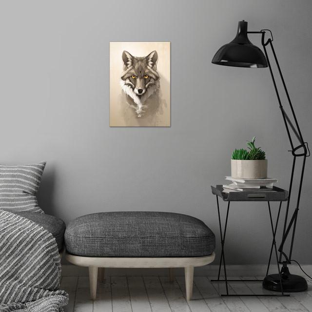 Fox wall art is showcased in interior