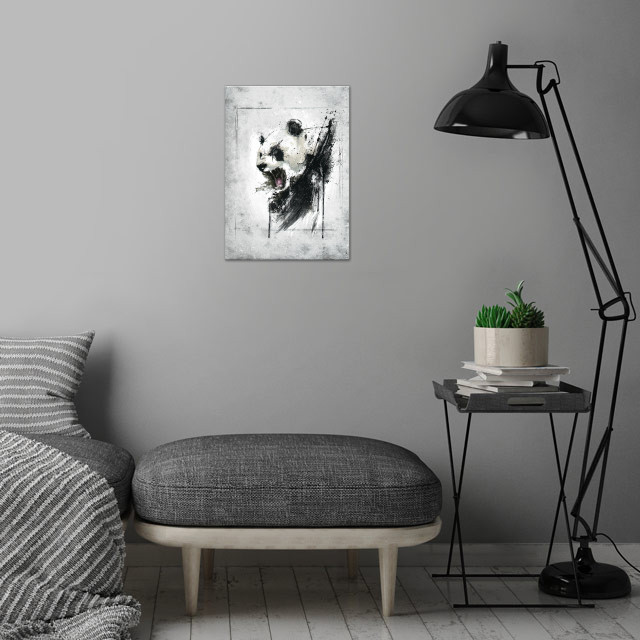 Angry Panda wall art is showcased in interior