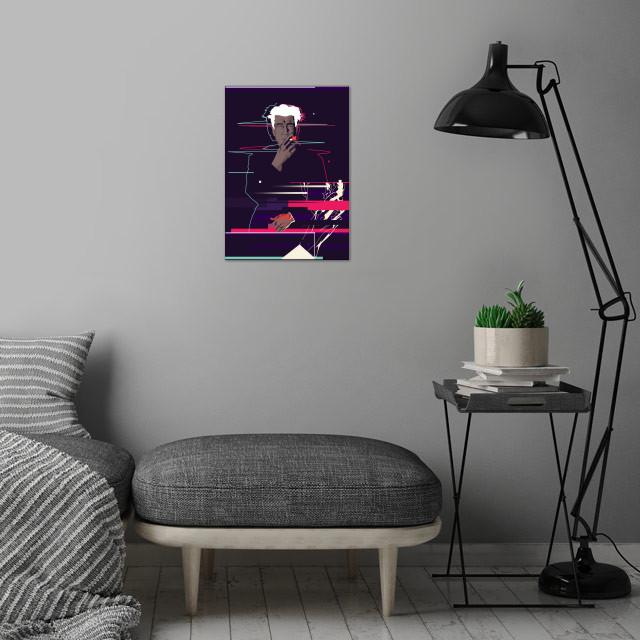 David Lynch - Glitch art wall art is showcased in interior