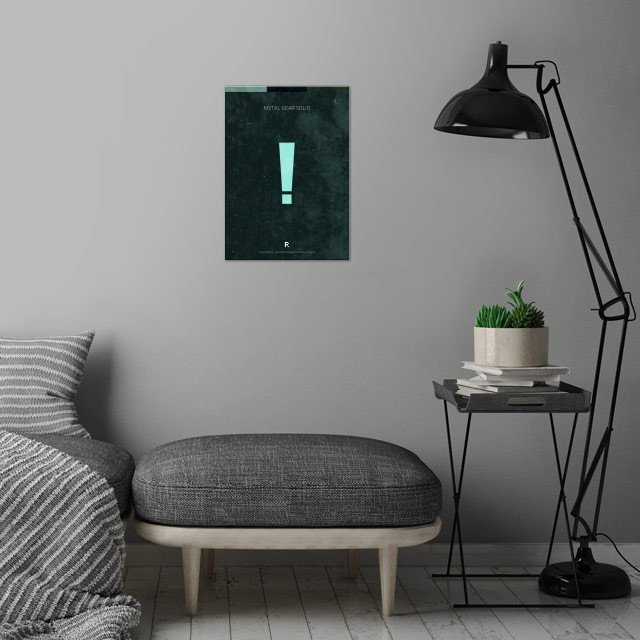 Metal Gear Solid 1. Minimal Videogame Poster. wall art is showcased in interior