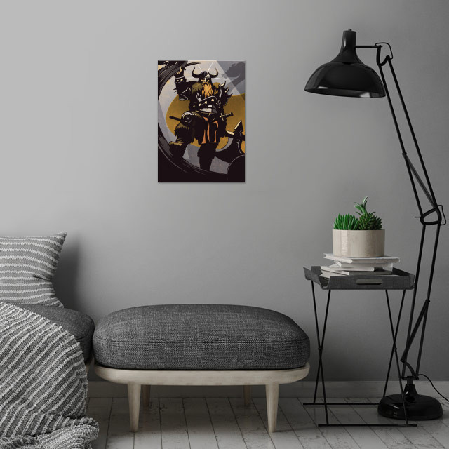 The Viking wall art is showcased in interior
