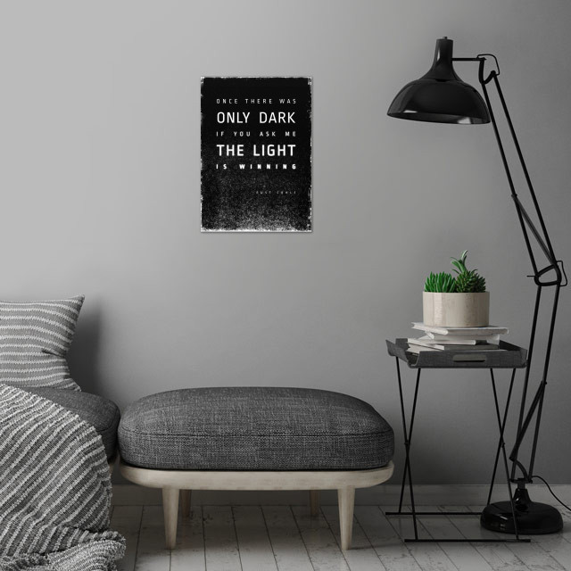 LIGHT vs. DARK wall art is showcased in interior