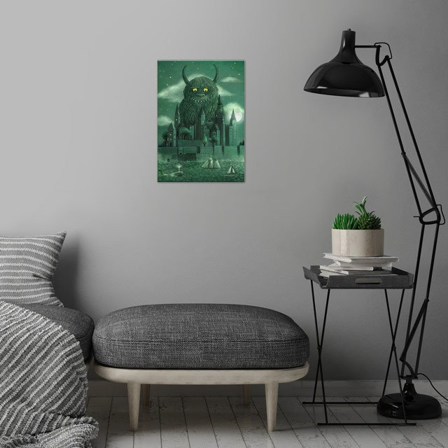 Age of the Giants wall art is showcased in interior