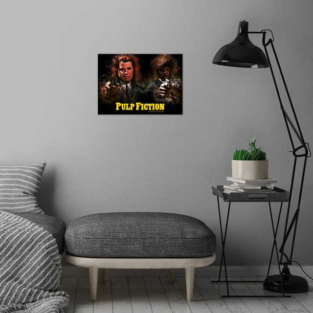 Pulp Fiction - Alternative Movie Poster wall art is showcased in interior