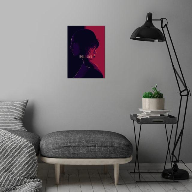 Under the skin - alternative movie poster design II wall art is showcased in interior