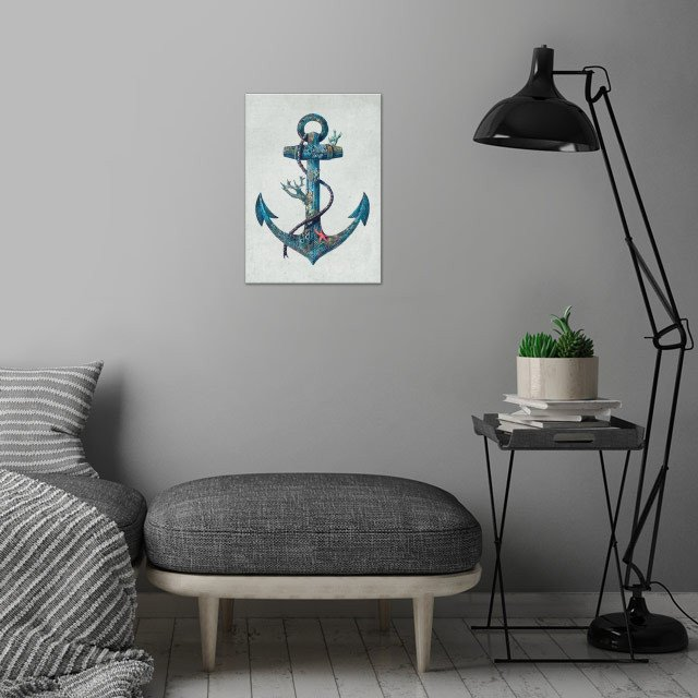 Lost at Sea wall art is showcased in interior