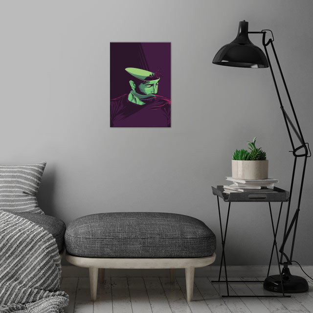 Enemy - alternative movie poster wall art is showcased in interior