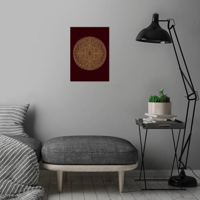 Moroccan Mandala wall art is showcased in interior