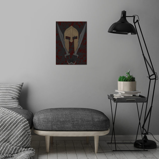 The Spartan 4 wall art is showcased in interior