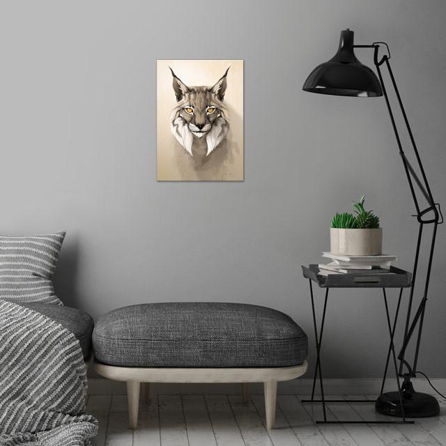 Lynx wall art is showcased in interior