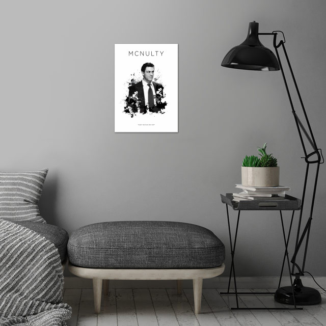 Det. Jimmy McNulty wall art is showcased in interior