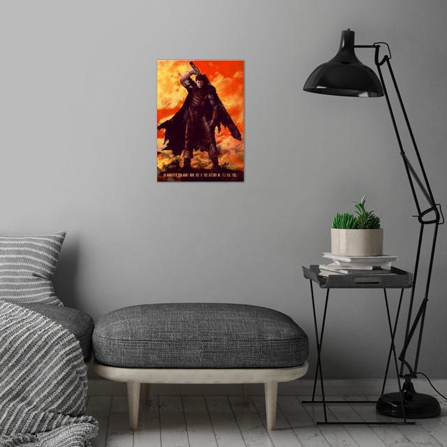 Berserker wall art is showcased in interior