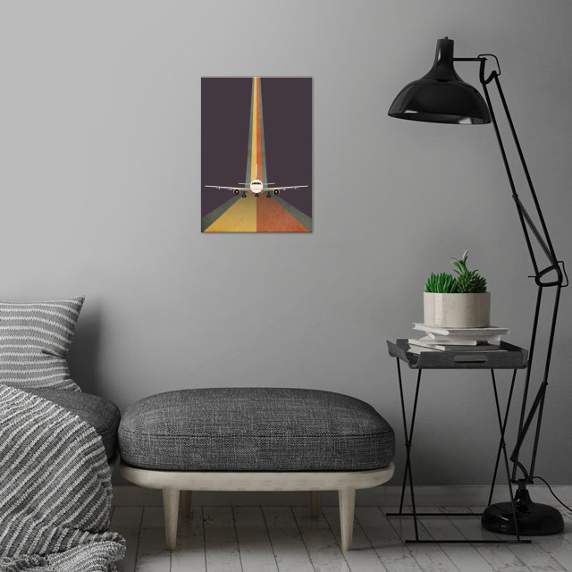 Take Off - Digital Art wall art is showcased in interior