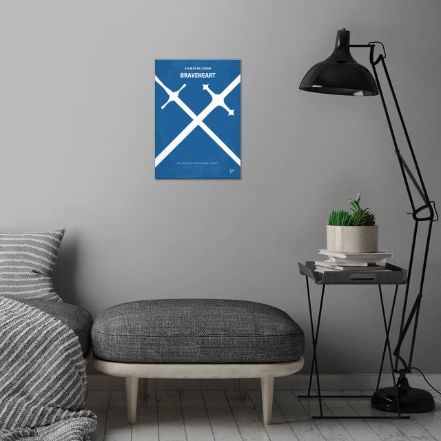 No507 My Braveheart minimal movie poster  When his secr... wall art is showcased in interior