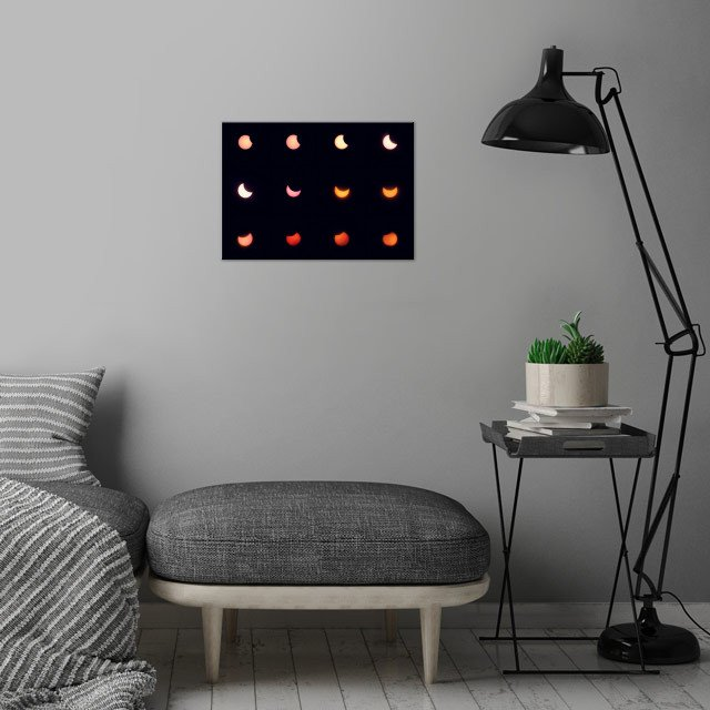 Eclipse of the Sun 2015  wall art is showcased in interior