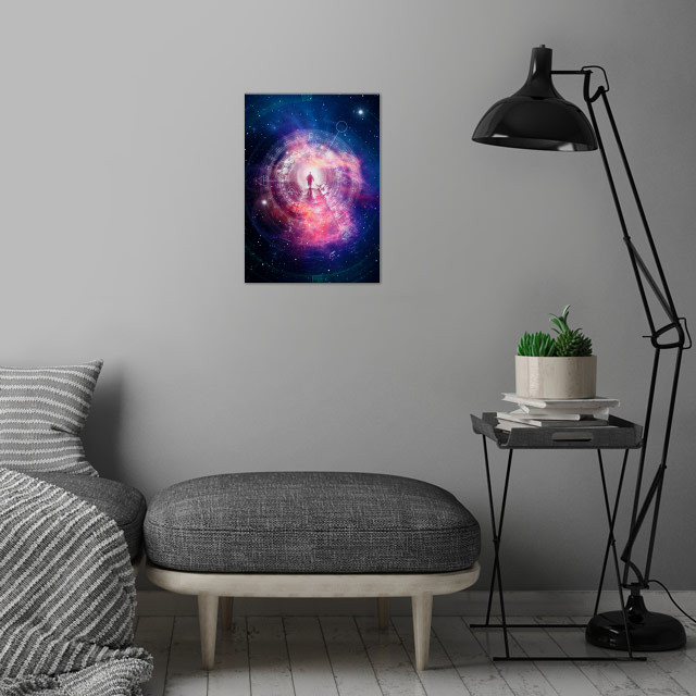 Beyond Time And Space wall art is showcased in interior