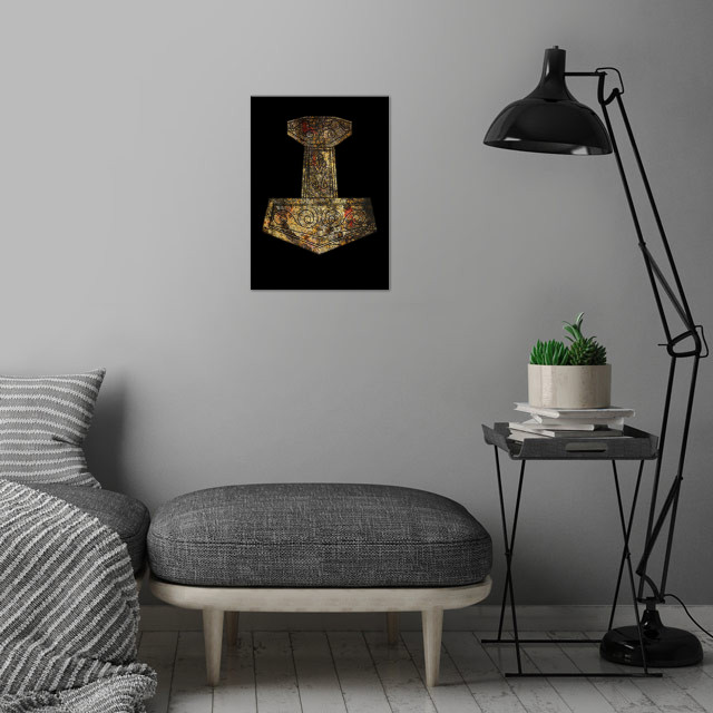 Mjölnir - Thor's Hammer wall art is showcased in interior