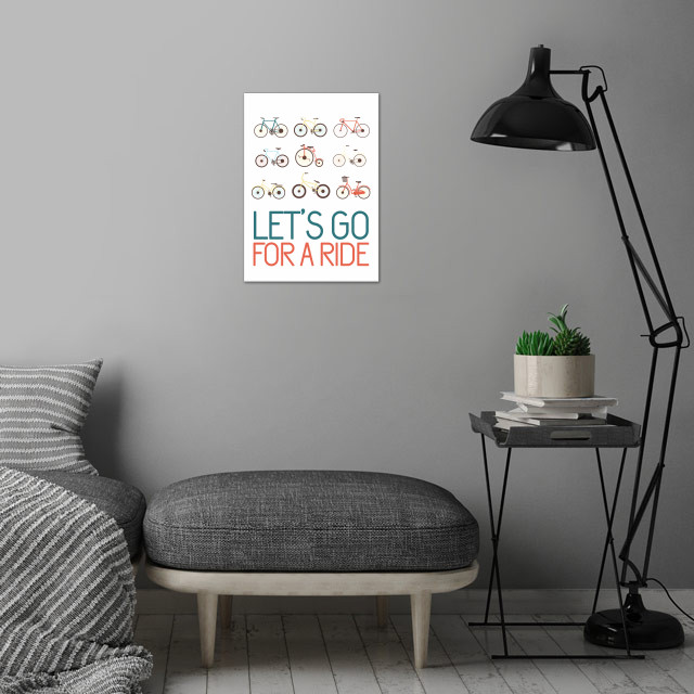 Let's go for a ride! wall art is showcased in interior