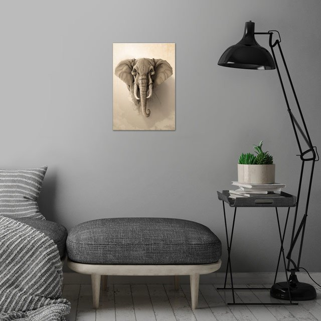 Wild Animals serie. wall art is showcased in interior
