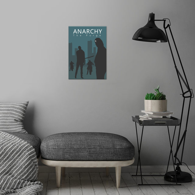 The Purge Anarchy Movie Artwork V1. Film by James DeMon... wall art is showcased in interior