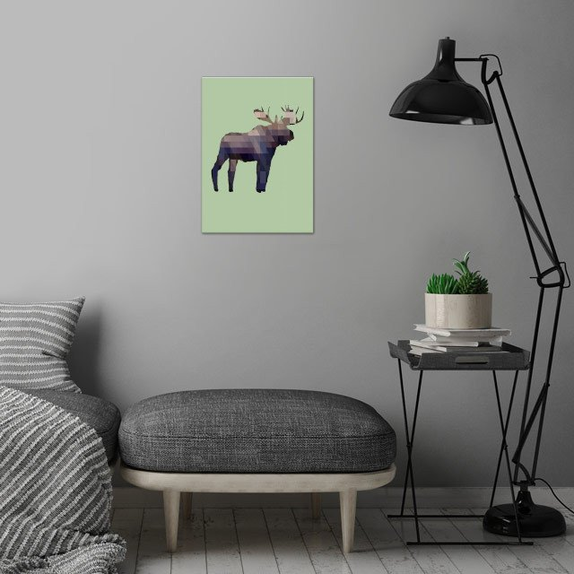 The Moose wall art is showcased in interior