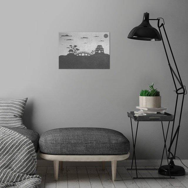 Peaceful landscape!  wall art is showcased in interior