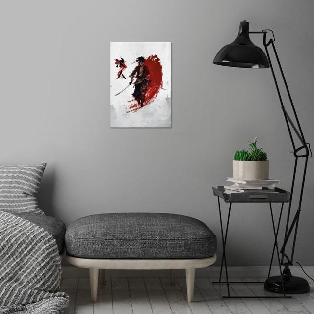 Ronin Samurai wall art is showcased in interior
