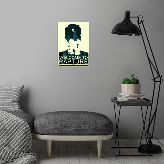 Welcome to Rapture wall art is showcased in interior