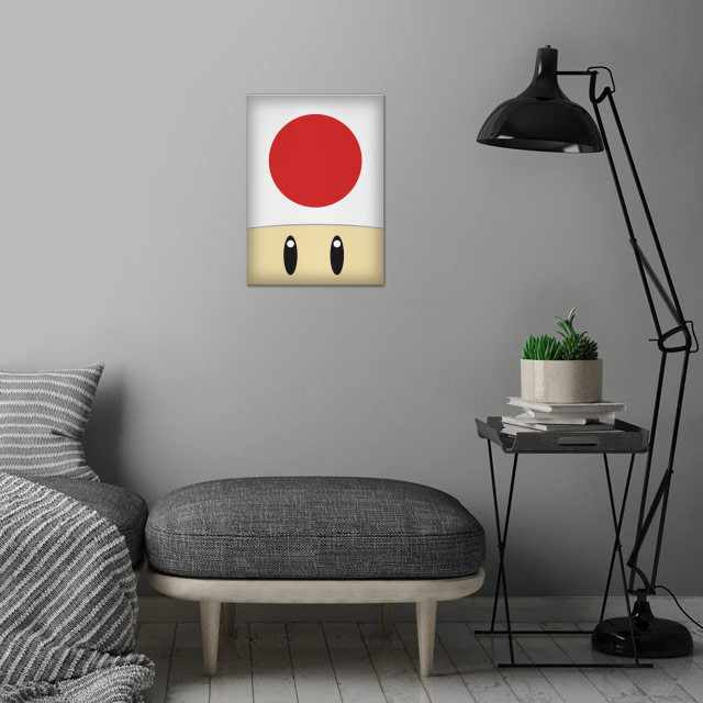 Toad wall art is showcased in interior